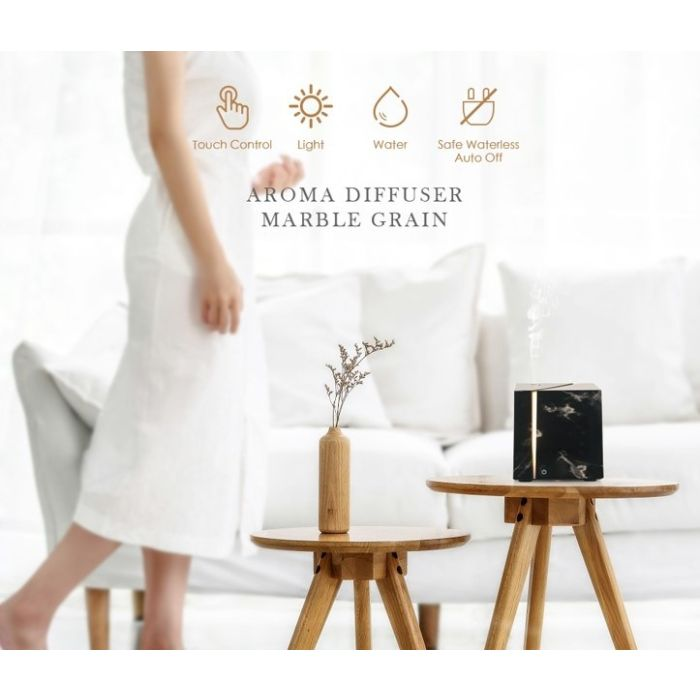 Details about 200ml Air Humidifier Marble Grain Ultrasonic Aromatherapy Essential Oil Diffuser